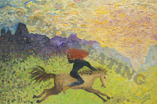 Galloping to the New Day by Jean Keating